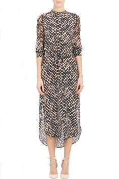 """Easy Work Dresses For Rushed Mornings #refinery29  http://www.refinery29.com/easy-work-dresses#slide-23  Nothing says """"boss status"""" quite like a silk, printed shirtdress."""