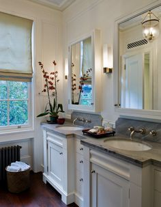 surface mount medicine cabinet Bathroom Traditional with Brooklyn Heights double sink double vanity formal