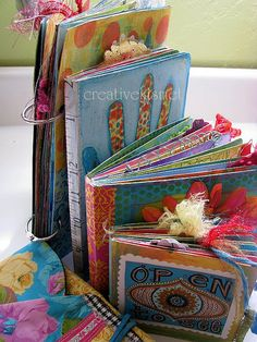 art journal stack by Regina Lord (creative kismet), via Flickr