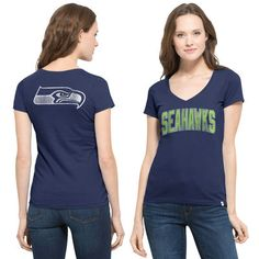 Men's Seattle Seahawks College Navy All Time T-Shirt