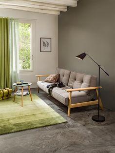 Micasa Wohnzimmer mit Bettsofa SCHUBERT und Beistelltisch QUINCY