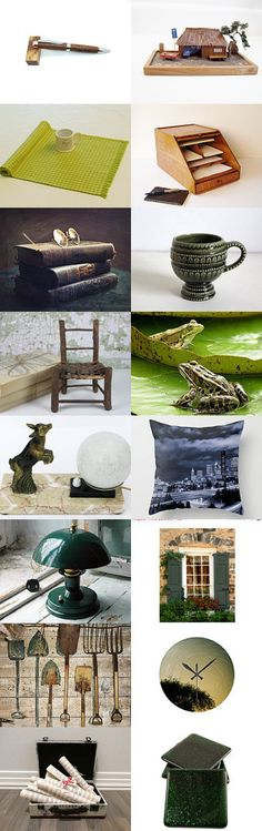 Woodland by Cristina on Etsy--antique boardartistryetsycom gifts green and brown handmade lamps photo art simply the best team simplythebest stbt treasury hunt 69 treasurybox vintage wall art