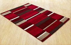 Blocks Red Contemporary Rug By Oriental Weavers