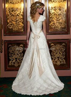 Buy A-line Sweetheart Modern Style Satin Wedding Dresses SAWD-30110 with Flower Wedding Dresses under $367.99 only in Dressywomen.