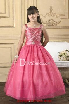 Fascinating A-line Square Neckline Flower Girl Gown