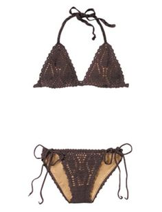 Brown crochet bikini (Sewn inside for more comfort :) )