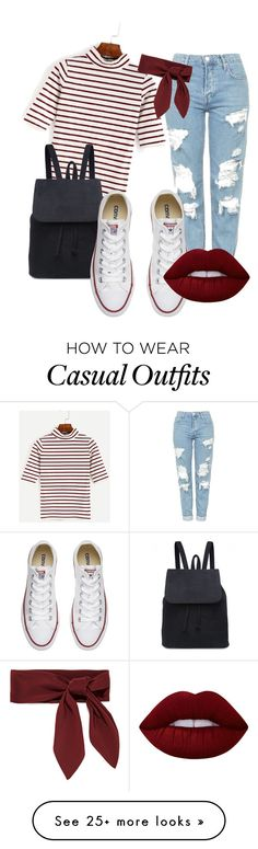 """casual"" by e-m-sowerby on Polyvore featuring Topshop, Converse, Lime Crime and Chloé"