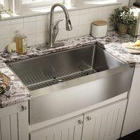 Kitchen Faucet for Farmhouse Sink . Kitchen Faucet for Farmhouse Sink . Kitchen Sink Decor, Best Kitchen Cabinets, Farmhouse Sink Kitchen, Kitchen Corner, Rustic Kitchen, New Kitchen, Kitchen Ideas, Modern Farmhouse, Farm Sink