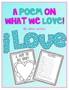 FREE:  A Poem on What We Love  (Good for back-to-school or Valentine's Day)