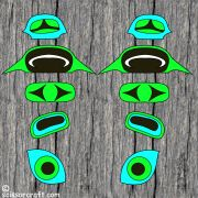 Totem Pole- Parts|papertotempoles.com | Paper and Scissor Craft Color Book Craft Activities for Children