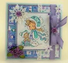 Sarah [SZWS172] - $8.50 : Whimsy Stamps