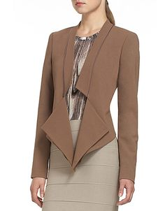 Newest addition to my timeless collection! BCBG Candice Collarless Jacket