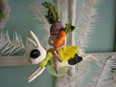 Spun Cotton Ornament  Sassy Turnip Hitches by MariePattersonStudio