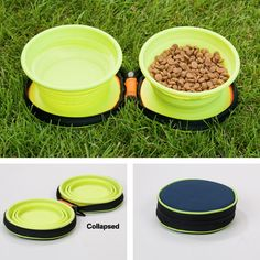 Pack light and travel smart with your pet using Petmate Travel Bowl Duo Portable Pet Bowls.