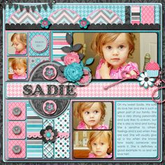 Little girl scrapbook layout