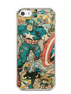 Capa Iphone 5/S Capitão América Comic Books #1 - SmartCases - Acessórios para celulares e tablets :)