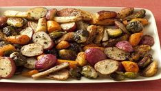 Get Roasted Potatoes, Carrots, Parsnips and Brussels Sprouts Recipe from Giada De Laurentiis, Everyday Italian, Food Network recipes side dishes paula deen recipes side dishes potlucks recipes side dishes ree drummond recipes side dishes veggies Vegetable Side Dishes, Vegetable Recipes, Vegetarian Recipes, Healthy Recipes, Veggie Medley Recipes, Healthy Chili, Vegetarian Grilling, Veggie Side, Healthy Grilling