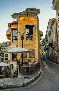 Let's have coffee at Cafe Lua in Port de Soller, Mallorca, Spain.  Photography by: Gene Krasko