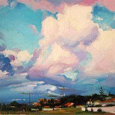 """""""Cumulus clouds"""" - Original Fine Art for Sale - © Víctor Tristante"""