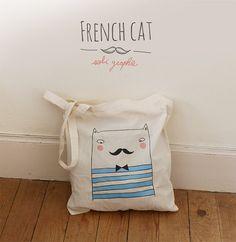 Hoi! Ik heb een geweldige listing gevonden op Etsy http://www.etsy.com/nl/listing/128976124/tote-bag-french-cat