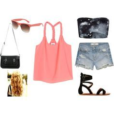 summer pastels and black