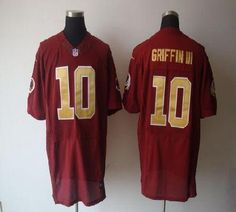 Nike Redskins  10 Robert Griffin III Red Alternate 80TH Throwback Men s  Stitched NFL Elite Jersey 217449ed5