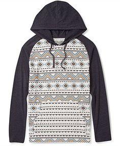 Retrofit Shirt, Aztec Print Hoodie Shirt