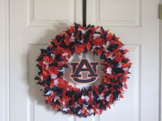 "18"" Auburn Tigers Fabric Wreath"