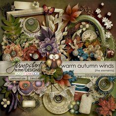 Warm Autumn Winds ~ Kit ~ by Jumpstart Designs Digital scrapbook kits $