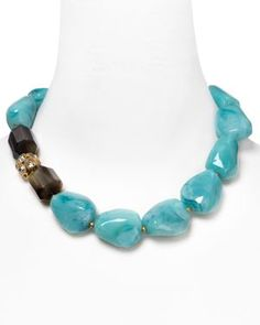 Chunky Stone and Crystal Statement Necklace