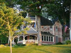 Petoskey, Michigan.. Just north of town there's a community of Victorian homes across the street from Lake Michigan. These homes were originally owned by the Methodist church as a summer retreat. Beautiful homes and we love driving through this community.