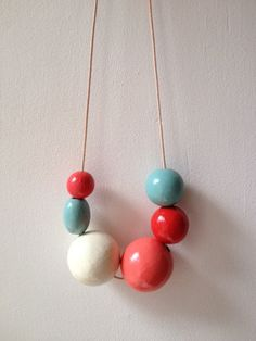 Wooden bead necklace, Delight Studio $19.00