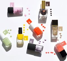 Spring nail polish from MAC, Essie, Le Metier, NARS, Tom Ford, Chanel, and Estee Lauder.