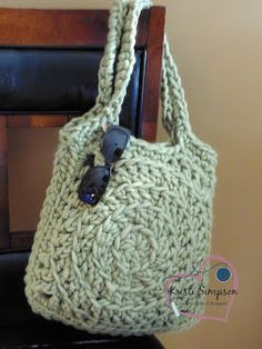 14 Row Easy Tote Free Crochet Pattern