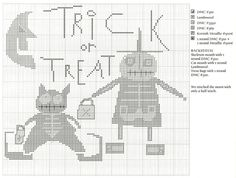 free cross stitch pattern:  prairie moon's trick or treat