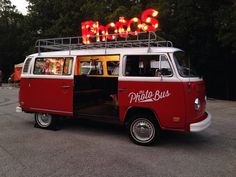The most unique and best photo booth in Kansas City: The Photo Bus! It's a photo booth in a vintage VW bus.