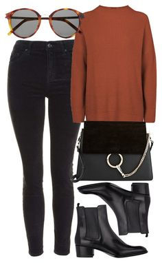 """""""Untitled #3993"""" by style-by-rachel ❤ liked on Polyvore featuring Topshop, Yves Saint Laurent and Chloé"""