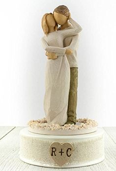 Personalized Willow Tree R Together Wedding Cake Topper Collectibles