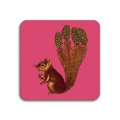 Avenida Home Puddin' Head Squirrel Coaster