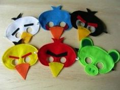 Masks! and she also has a template for balloons but I will be using it on bouncy balls! http://www.thepartyanimal-blog.org/Downloads/Angry Birds Balloon Templates.pdf