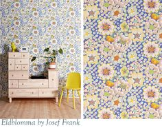 My top wallpaper picks Josef Frank, Beautiful Patterns, Chalk Paint, Floral Prints, Website, Rugs, Wallpaper, Fabric, Blog