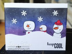 Christmas Card Challenges Week 12: Snowmen Card How-to