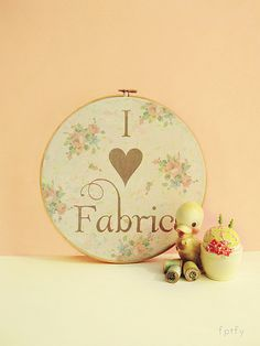 I love Fabric Pretty  Embroidery Hoop Printable  DIY by FPTFY by Free Pretty Things For You!, via Flickr