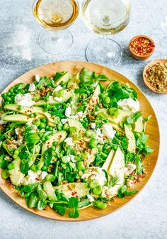 avocado, broad beans, and goat's cheese salad by stuck in the kitchen. / sfgirlbybay