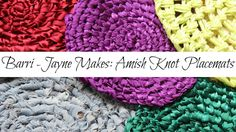 How to make Amish knot Trivets/Placemats (toothbrush rag rug)- Tutorial