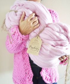 Pudgy - 5 pounds 200 yards Huge Super Chunky & Super Bulky Merino Wool Yarn (Pudgist, Thickest, Softest Yarn on the Market!)