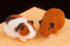 Wool Pets Needle Felting Kit - Guinea Pigs