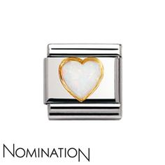 Nomination White Opal Heart Charm | Argento.co.uk