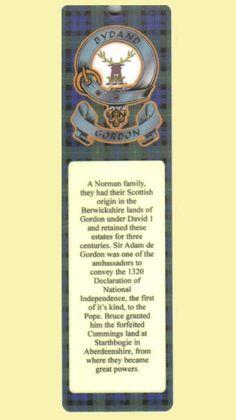 For Everything Genealogy - Gordon Clan Badge Clan Gordon Tartan Laminated Bookmarks Set of 2, $14.00 (http://www.foreverythinggenealogy.com.au/gordon-clan-badge-clan-gordon-tartan-laminated-bookmarks-set-of-2/)
