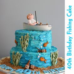 Fishing boat cake by Kat's Cakes, via Flickr